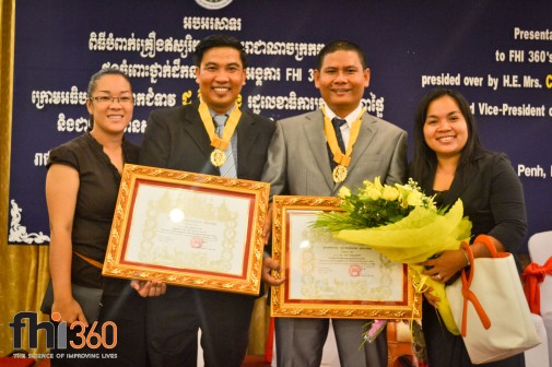 Receive award from the Royal Government of Cambodia